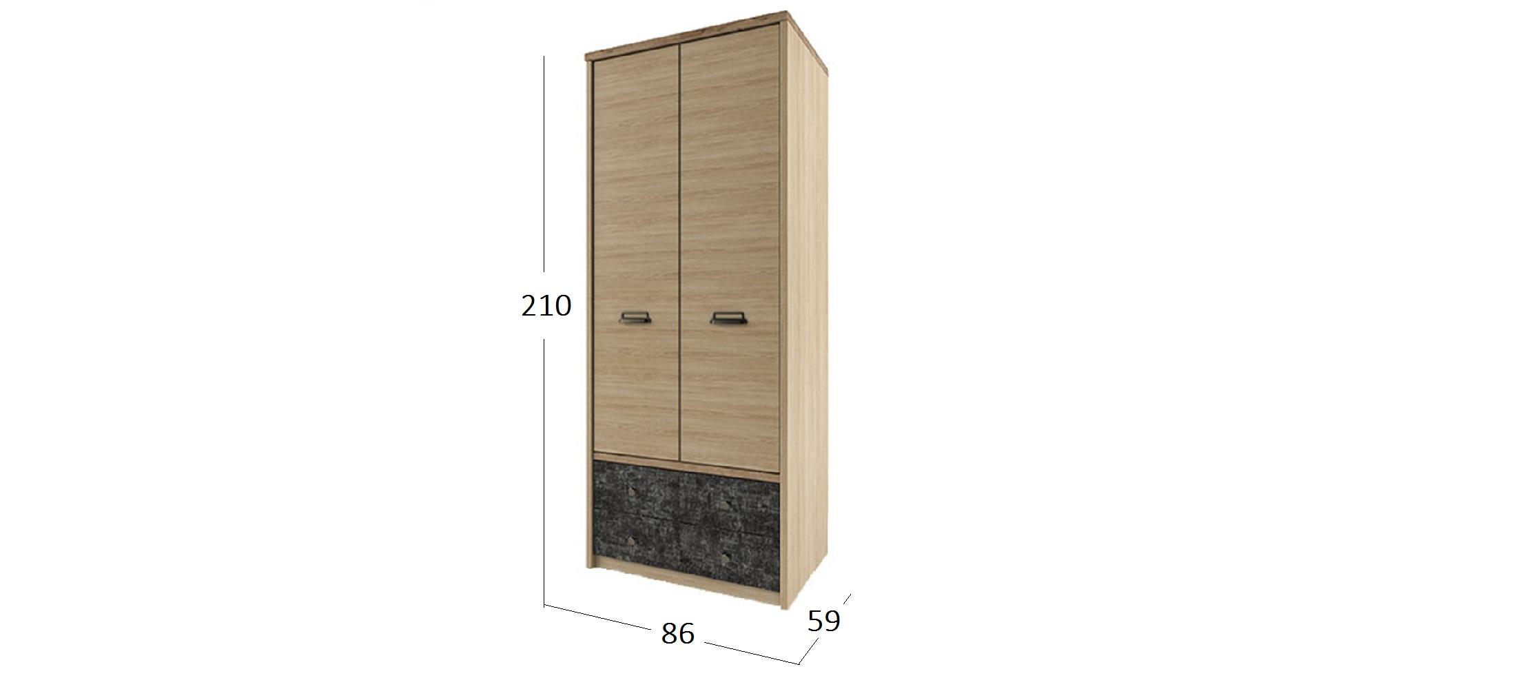 Шкаф Дизель 2 двери Модель 732